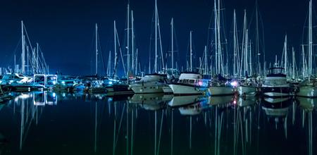 Marina at night